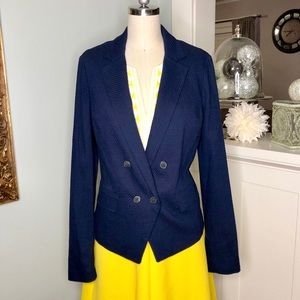 Vince Navy Blue Double Breasted Blazer Jacket